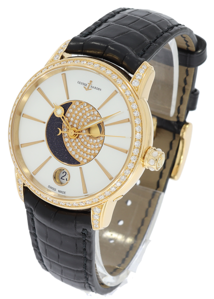 Nardin Classic Luna 18K Rose Gold & Diamonds Ladies Watch